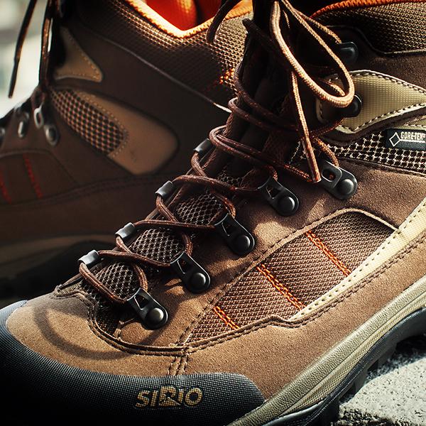 登山靴の記念写真。M5のストロボ使ってみる。