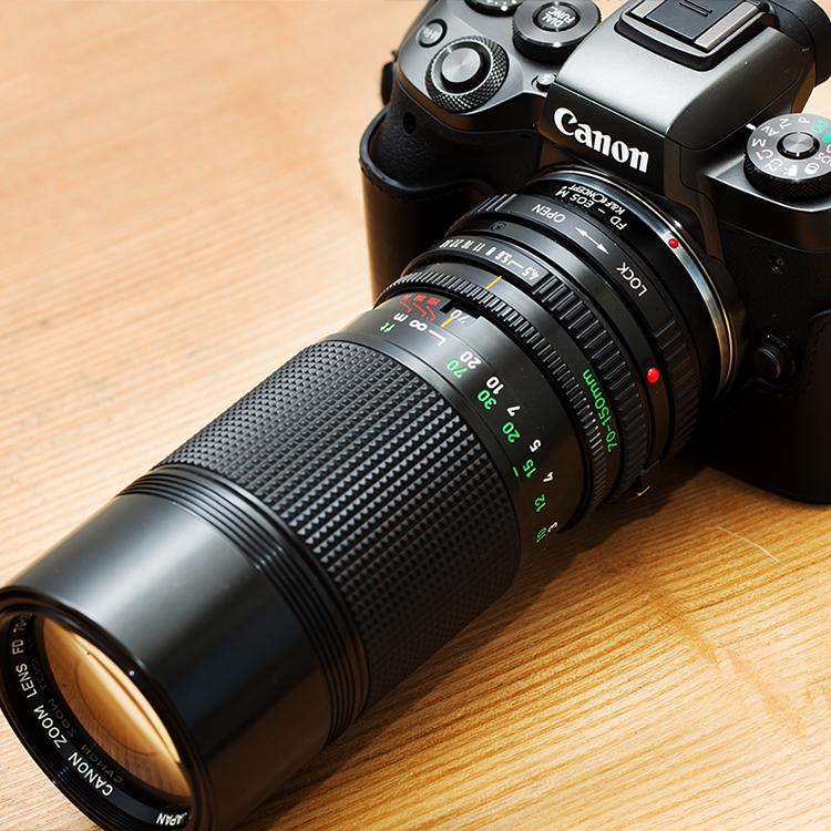 EOS M5で使う望遠レンズ。New FDは格安。